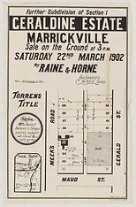 1902 Geraldine between Marrickville Stat