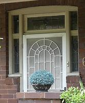 No 61 Frazer Street Front Door Sidelight