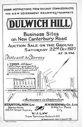 1927 Dulwich Hill Business Sites Railway
