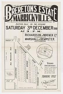1910  Brereton's Estate, Marrickville -