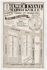 1903 Dulwich Estate, Marrickville - Marr