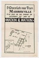 1882 9 choice Lots near Tram, Marrickvil
