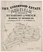 1878 The Underwood Estate - Ashfield - L