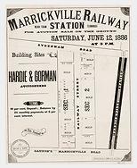 1886 Marrickville Railway Station near T