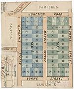 1887 Partial plan of Summer Hill - Somer