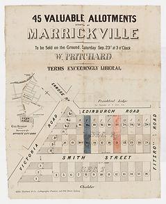 1882 45 valuable allotments, Marrickvill