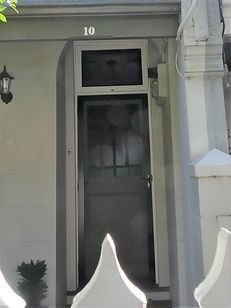 No 10 Agar Street Front Door Panels& Fan
