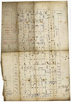 1881 Sketch Plan Summerhill Estate - Cho