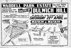 1922 Wardell Park Estate South of Dulwic