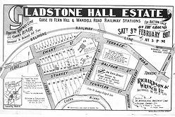 1907 Gladstone Hall Estate Garnet Street