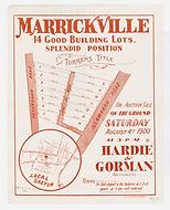 1900 Marrickville, 14 good building Lots