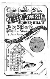 1886 Blair Gowrie Estate Summer Hill Can