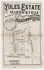 1884 (c) Yule's Estate, Marrickville - M