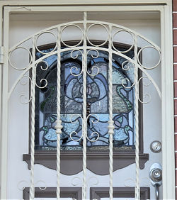 No 17 Despointes Street Front Door Panel