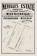 1882 Neville's Estate, Marrickville - Ne