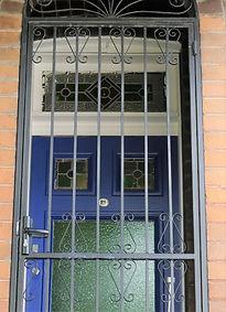 No 21 Beach Road Front Door Panels & Fan