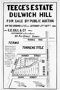 1900 Teege's Estate Dulwich Hill Pine St