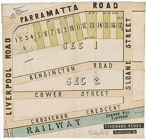 1880 Partial plan of Summer Hill - Under