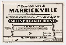 1882 20 choice villa sites at Marrickvil