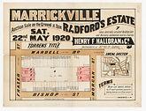 1920 Marrickville, Radford's Estate - Fr