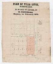 1875 Plan of villa sites, Marrickville -