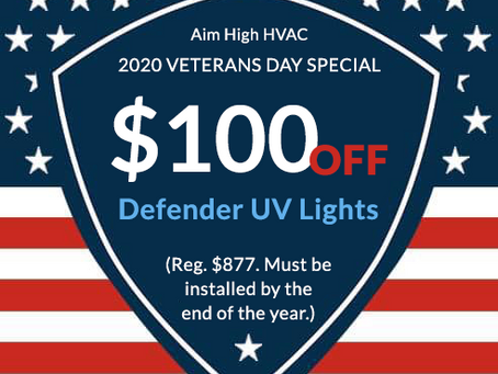 Don't miss our Defender UV Lights special!