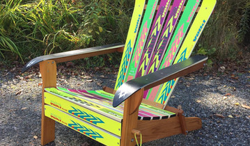 Finished folding Adirondack Ski Chair.