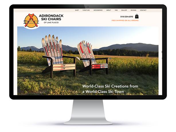 Adirondack Ski Chairs of Lake Placid