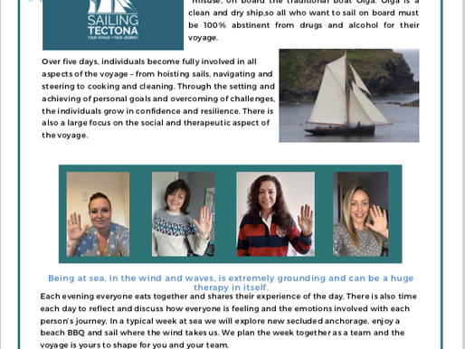 Road 2 Recovery programme and our first ever female Voyage of Recovery