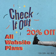 20% Off All Website Plans