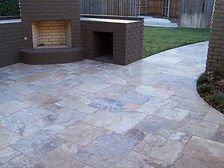 Patio stone tile installation