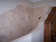 custom shower tile installation
