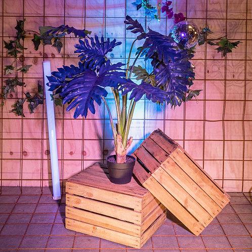 Kunst Philodendron blauw - 90cm