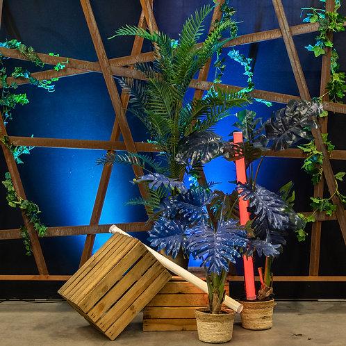 Blue Army kunstplanten set