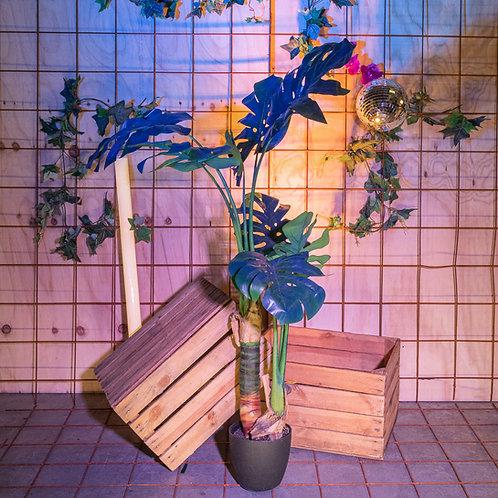 Kunst Monstera plant blauw - 130cm