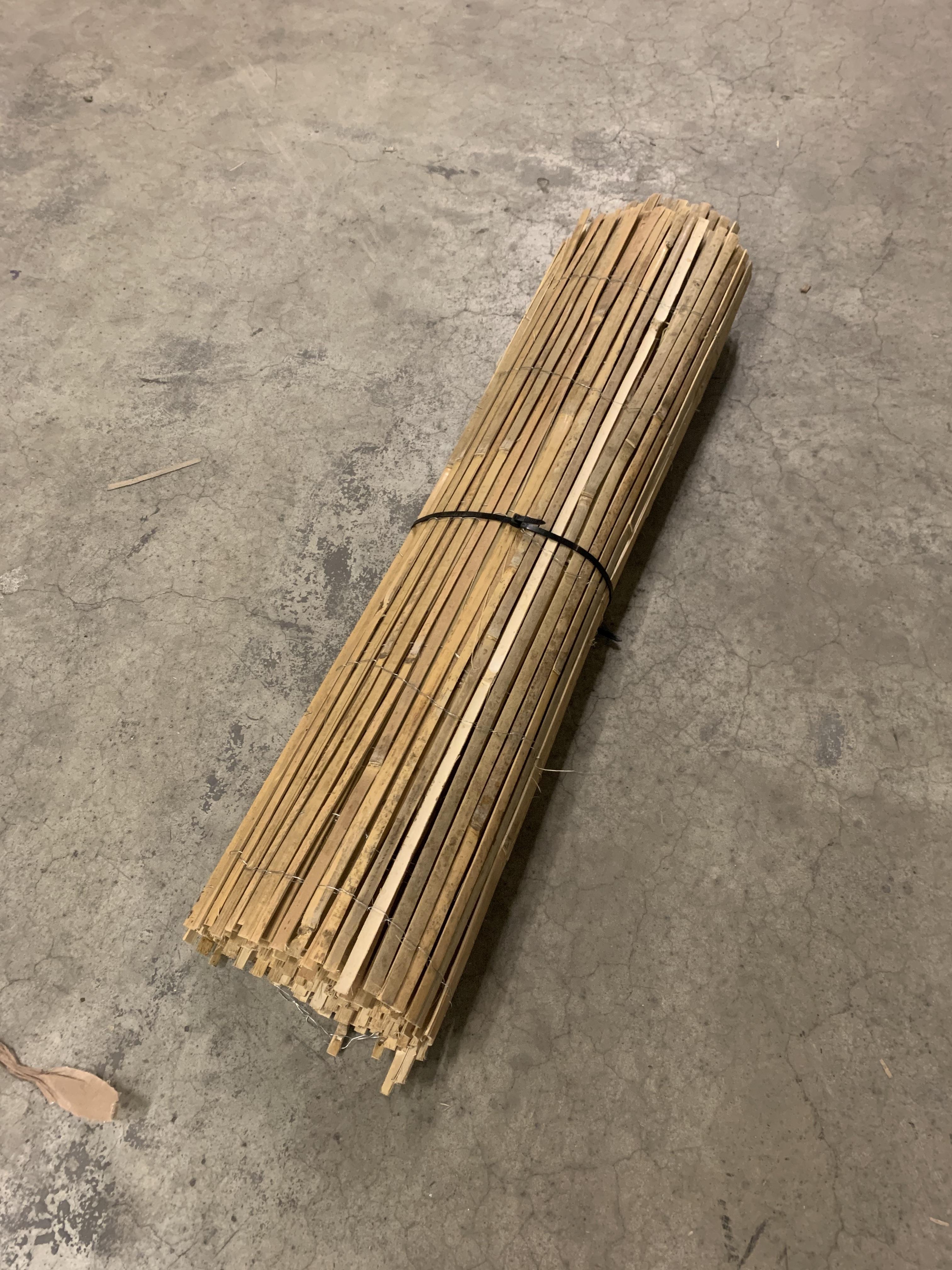 Bamboemat-laag
