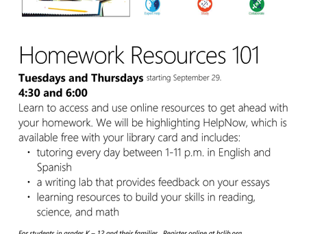 Homework Resources 101 with Hennepin County Library