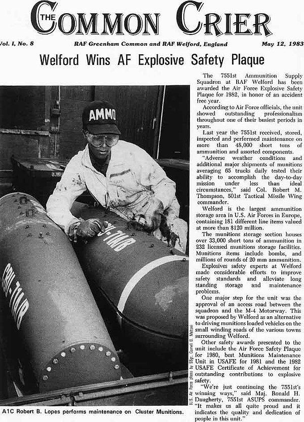 RAF Welford ammo 1983
