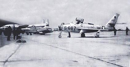 F-84F at Greenham Common