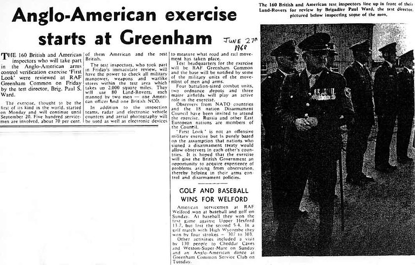 Operation First Look at Greenham Common in 1968