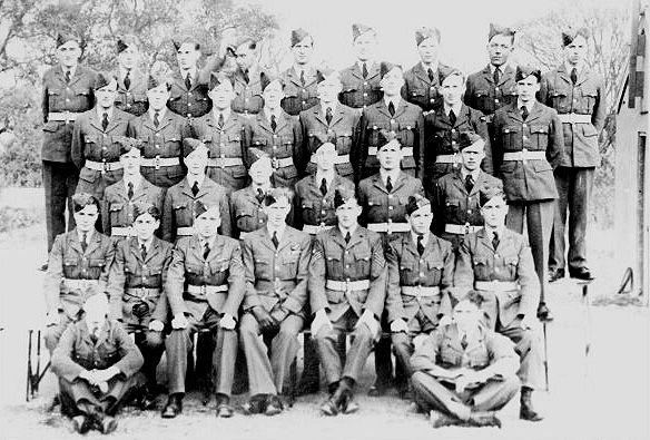 RAF airmen at Greenham Common in 1945