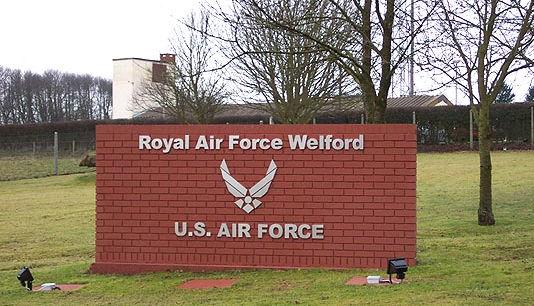 RAF Welford Sign