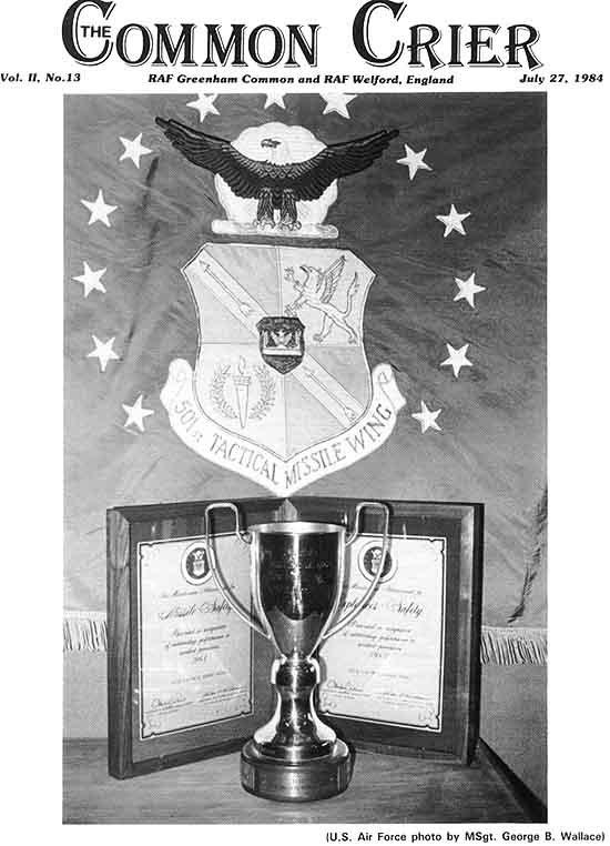RAF Greenham Common Crier 1984