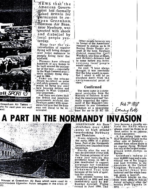 History of Greenham Common 1978