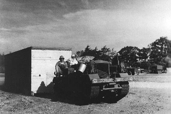 US Army bulldozer at Greenham Common