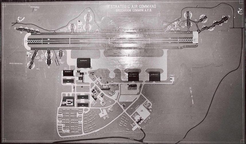 Greenham Common airfield model 1954