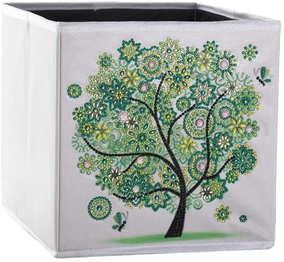 Boîte de rangement pliante 25x25x25 cm (Vert)
