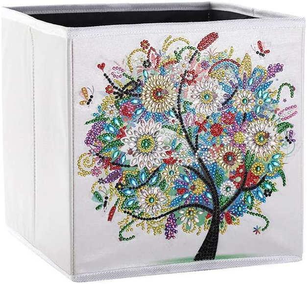 Boîte de rangement pliante 25x25x25 cm (Multicolore)