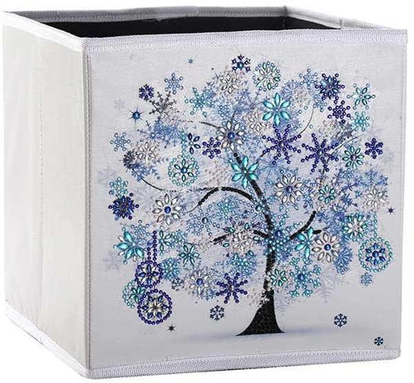 Boîte de rangement pliante 25x25x25 cm (Bleu)
