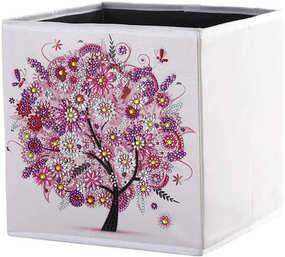 Boîte de rangement pliante 25x25x25 cm (Rose)